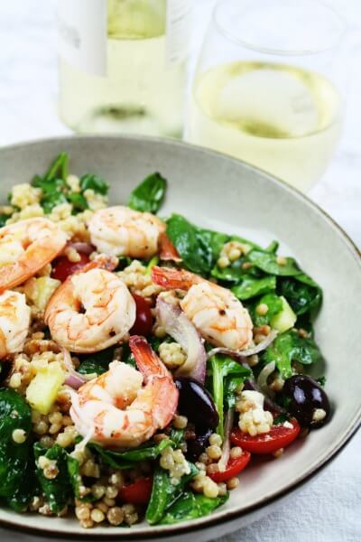 Greek Shrimp and Couscous Salad