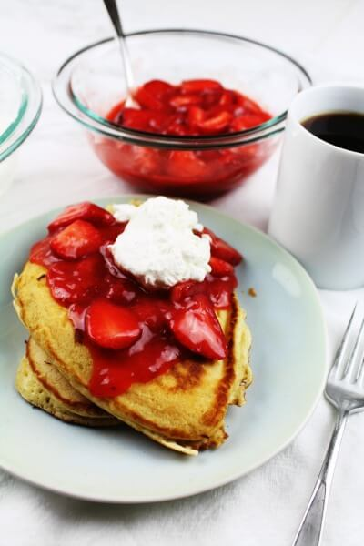 Strawberry-Topped Pancakes